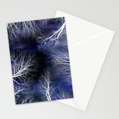 Abstract Midnight Trees Stationery Cards