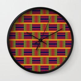 African kente pattern 2 Wall Clock