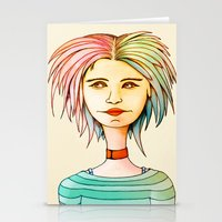 rasta Stationery Cards featuring Rasta Girl by IOSQ