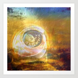 EXPLORERS ONLY / The Biggest Spatial Eye / 26-08-16 Art Print