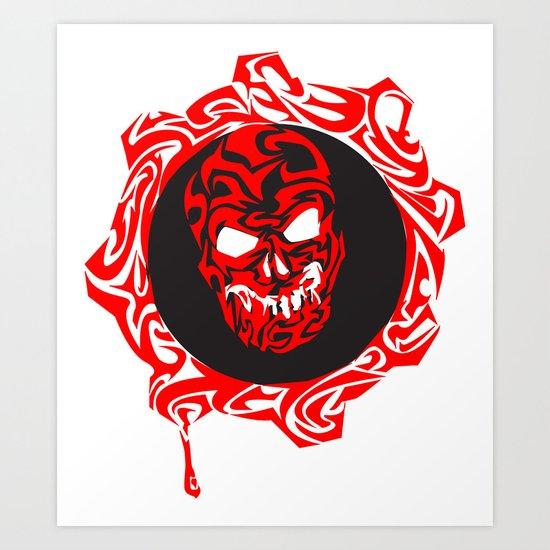 Gears Of War Design Art Print