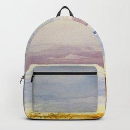 Original Watercolor Dead Sea in Winter Time Backpack