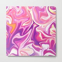 Swirls -  Purples Metal Print