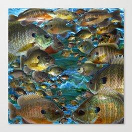 Bluegill Camo Canvas Print
