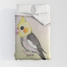 Very cute cockatiel Comforters