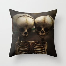Conjoined Infant Skeletons at Museum Vrolik Throw Pillow