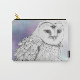 Owl with a third eye and crystal ball Carry-All Pouch