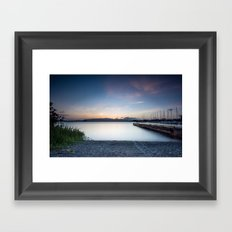 Smooth Sunset, Hawaii Framed Art Print