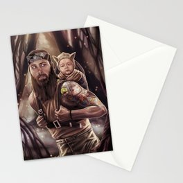 Father and Son Swamp Training Stationery Cards