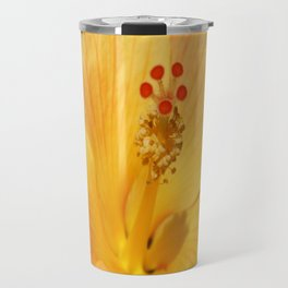 Golden Hibiscus Travel Mug