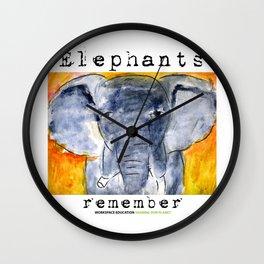 Elephants Remember Wall Clock