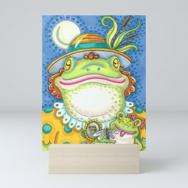 LILITH AND YOUNG Mother Frog And Baby Mini Art Print