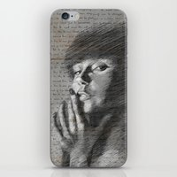 annie hall iPhone & iPod Skins featuring Annie by Mike Lee