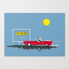 Roadtrip to nowhere Canvas Print