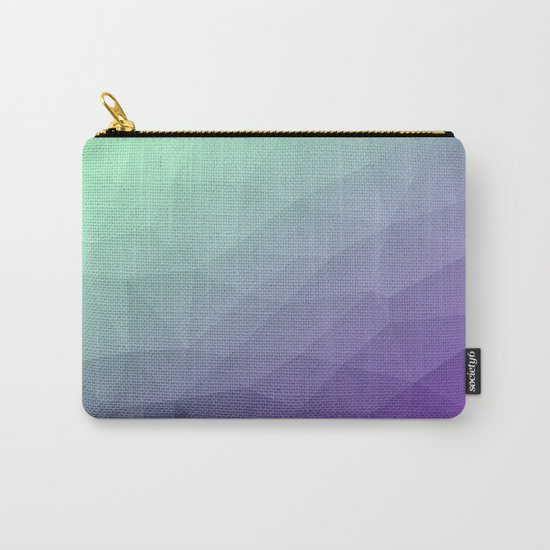 Purple green ombre gradient geometric mesh Carry-All Pouch