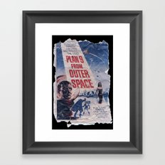Plan 9 From Outer Space: Pulped Fiction edition Framed Art Print