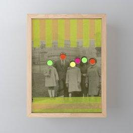 Fluo Family Framed Mini Art Print