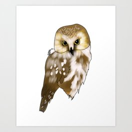 Woodland Creatures Series: Owl Art Print
