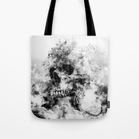 silent hill Tote Bags featuring Silent Hill by RIZA PEKER