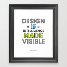 Visible Design Framed Art Print