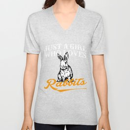 Rabbits Shirts For Girls Unisex V-Neck