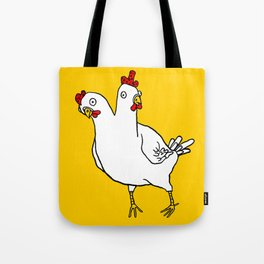 Chicken Dos Cabezas Tote Bag