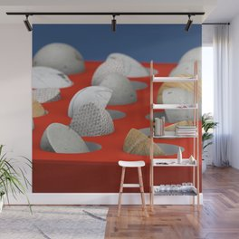 MARBLE - WOOD - CONCRETE - COTTON II Wall Mural