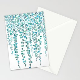 String Of Pearls plants watercolor 2 Stationery Cards