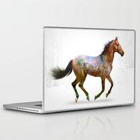 horse Laptop & iPad Skins featuring horse by ron ashkenazi