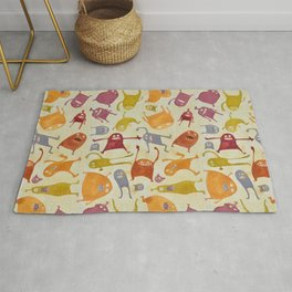 Watercolor Critter Pattern Alpha Rug
