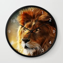 Lion face .King of beasts abstraction Wall Clock