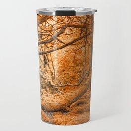 Glowing Amber Forest Travel Mug