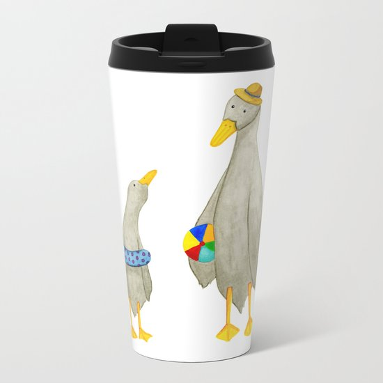 The ducks day out! Metal Travel Mug