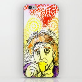 Willy Wonka Drinks His Tea - Gene Wilder  iPhone Skin