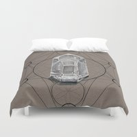 sacred geometry Duvet Covers featuring Sacred Geometry  by Kit King & Oda