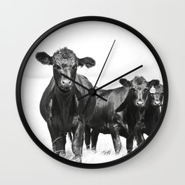 Cattle Country Photograph Wall Clock