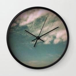 Minimal Clouds Wall Clock