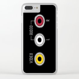 Plug in your mood! (Music + Video) Clear iPhone Case