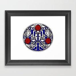 Celtic Cyberman brooch Framed Art Print