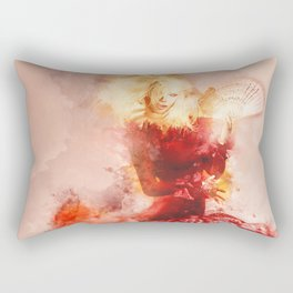 Fanning The Flames Rectangular Pillow