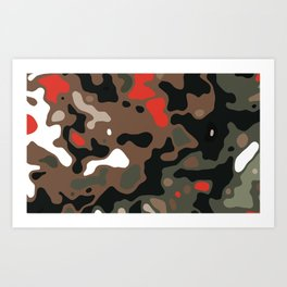 Camo 35 Art Print