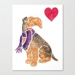 Watercolour Airedale Terrier Canvas Print