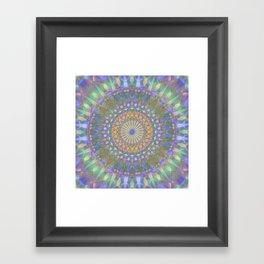 Crystal Mandala Framed Art Print