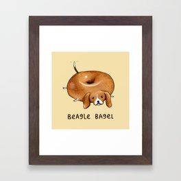 Beagle Bagel Framed Art Print