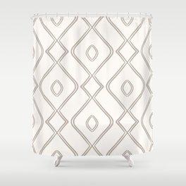 Modern Boho Ogee in Cream Shower Curtain