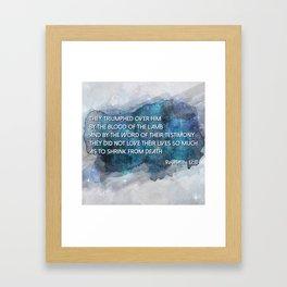 Revelation 12:11 Framed Art Print