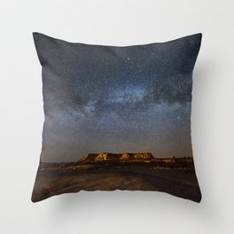 Across the Universe - Milky Way Galaxy Above Mesa in Arizona Throw Pillow