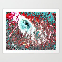 Volcanic Ice (My Christmas contribution) Art Print