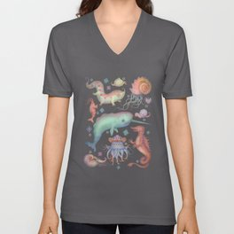 Creatures of the Deep Sea Unisex V-Neck