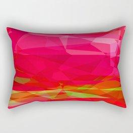 Crape Myrtle Abstract Polygons 3 Rectangular Pillow